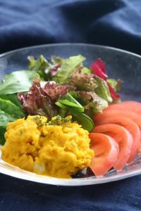 栗カボチャとトマトサラダ