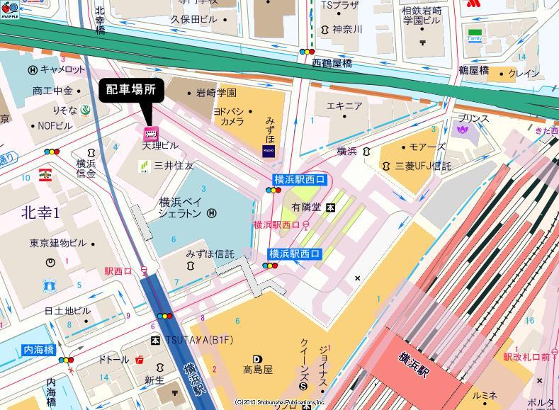 横浜駅西口(天理ビル前付近)