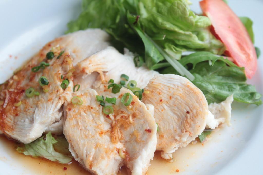 鶏のピリ辛ソース横